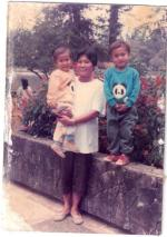 My mother with lou adn samboy